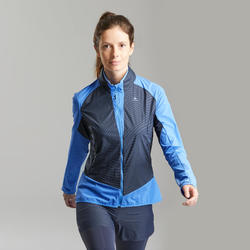 Women's Warm Jacket For Fast Hiking FH 900 Hybrid - Blue