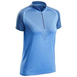 Tee shirt manches courtes de randonnée rapide FH900 Femme Bleu.