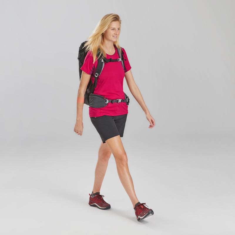 เสื้อยืดแขนสั้นสำหรับผู้หญิงใส่เดินป่ารุ่น MH900