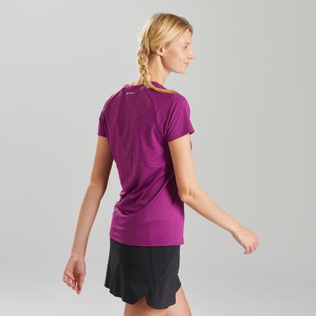 Women's Mountain hiking short-sleeved T-Shirt MH500