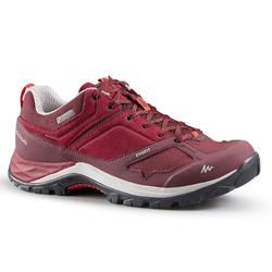 Women's Mountain Walking Waterproof Shoes - MH500 - Burgundy