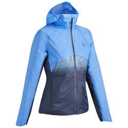 Jas voor fast hiking dames FH 900 Hybrid blauw/grijs