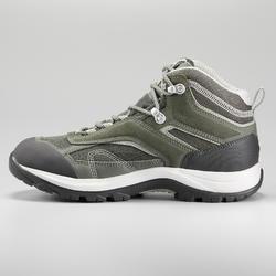 Chaussures imperméables de randonnée montagne - MH100 Mid Khaki - Femme