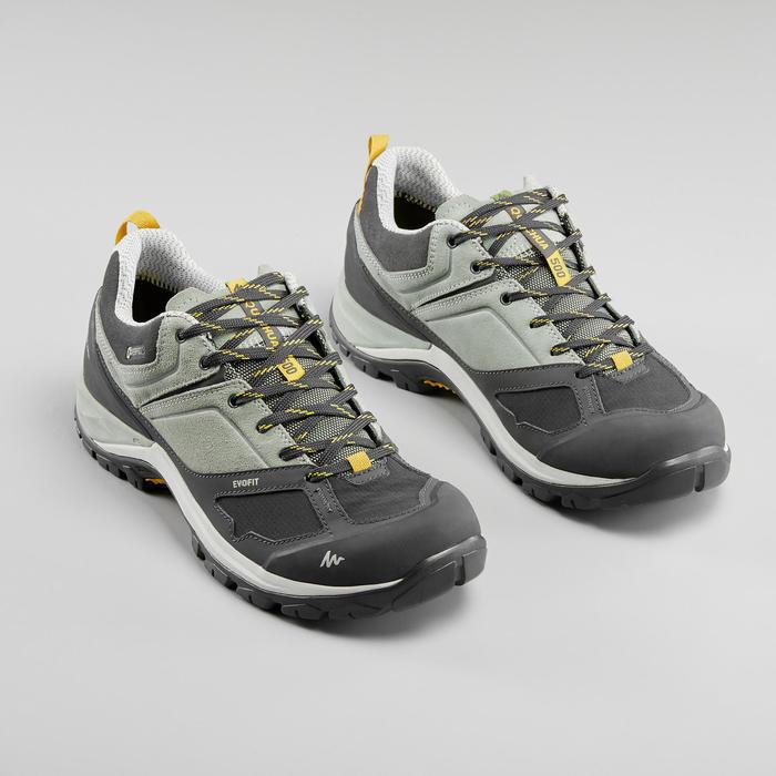Women's waterproof mountain walking boots MH500 – Green/Yellow