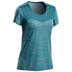 女款極速健行T恤 FH500 Helium-藍色