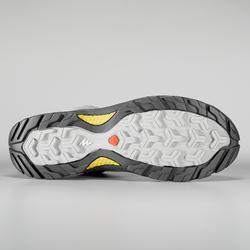 女款防水登山健行靴MH500-綠色/黃色
