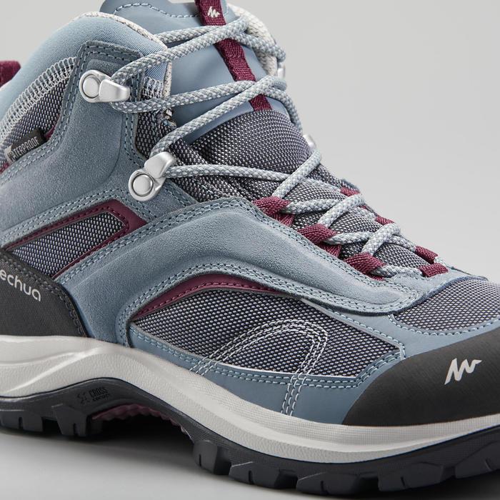 Chaussures imperméables de randonnée montagne - MH100 Mid Bleu/Violet- Femme