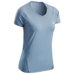 T-shirt de Caminhada na montanha - Mulher- MH500 Cinzento