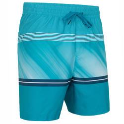 Boardshorts Surfen Division Herren blau mit Streifen