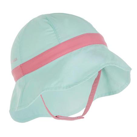 Chapeau anti UV bébé nageur vert