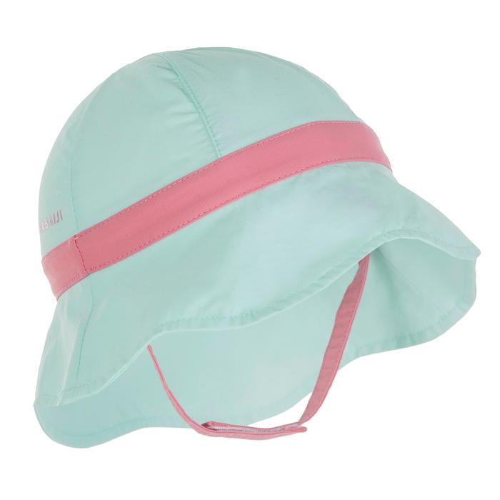 Mũ bảo vệ chống tia UV cho trẻ - Xanh bạc hà/Quai hồng