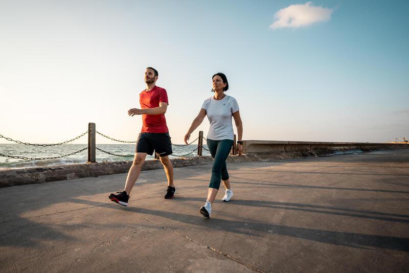 รองเท้าผู้ชายสำหรับใส่เดินเพื่อสุขภาพรุ่น PW 540 Flex-H+ (สีน้ำเงิน/แดง)