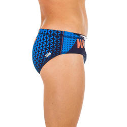 MAILLOT BAIN SLIP WATER POLO 500 HOMME MCROSS BLUE