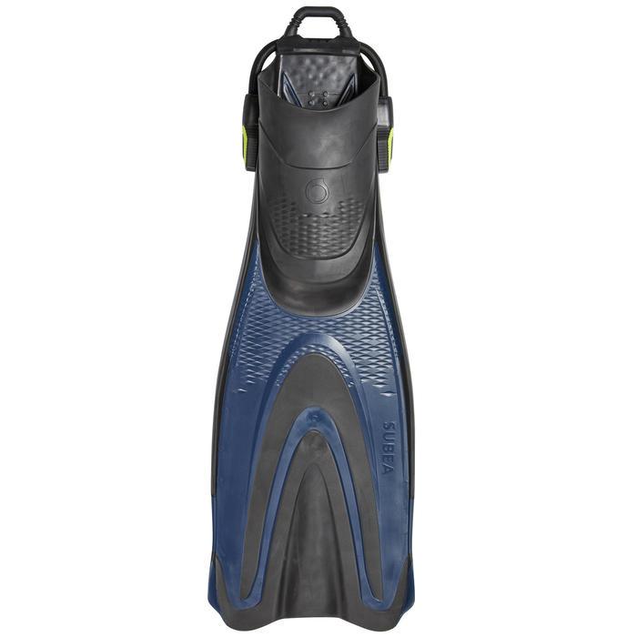 Palmes de plongée bouteille réglables avec sangle élastique SCD 500 OH Bleu