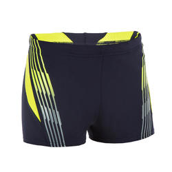 Zwembroek jongens boxer Raise blauw/geel