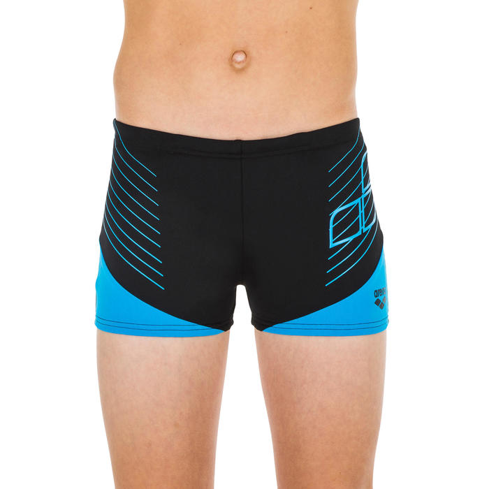 maillot de bain boxer junior Arena noir bleu
