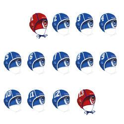 Set van 13 waterpolocaps voor volwassenen blauw