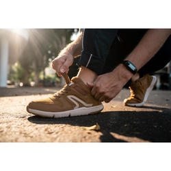 Herensneakers voor sportief wandelen Actiwalk Easy Leather camel