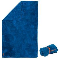Superzachte microvezel handdoek blauw maat XL 110 x 175 cm
