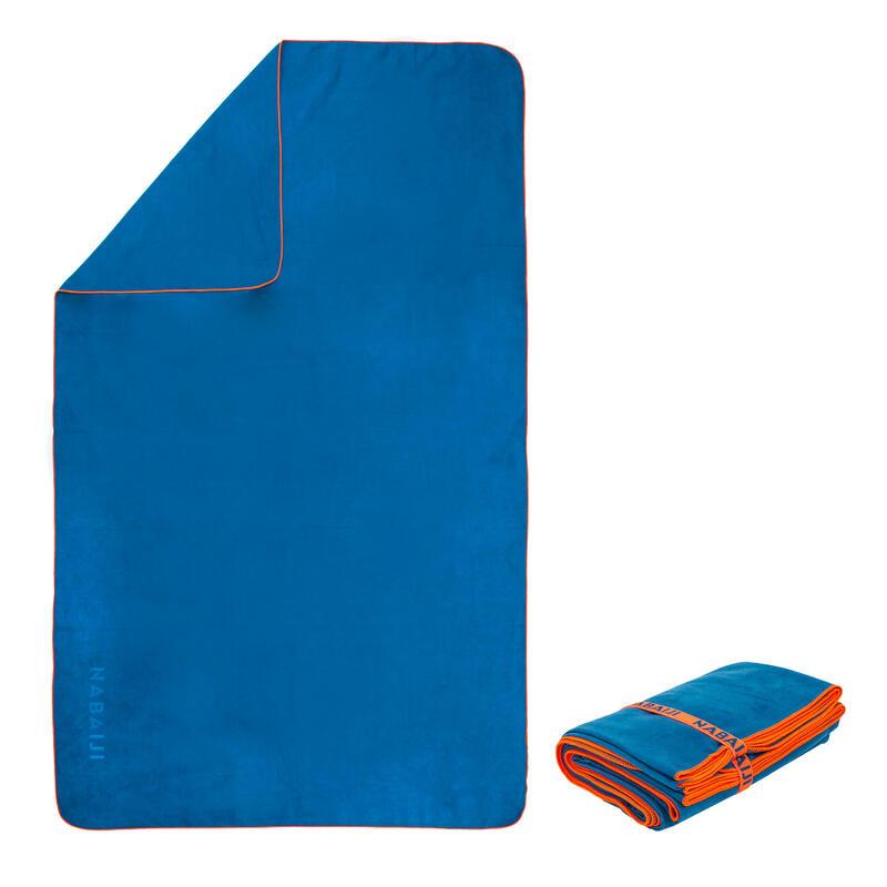 Toalla Baño Microfibra Azul Tamaño M 65 x 90cm