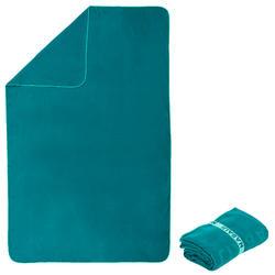 Serviette de bain microfibre vert sapin taille XL 110 x 175 cm