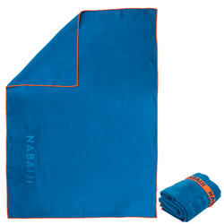 Microfiber towel size XL 110 x 175 cm - Blue orange