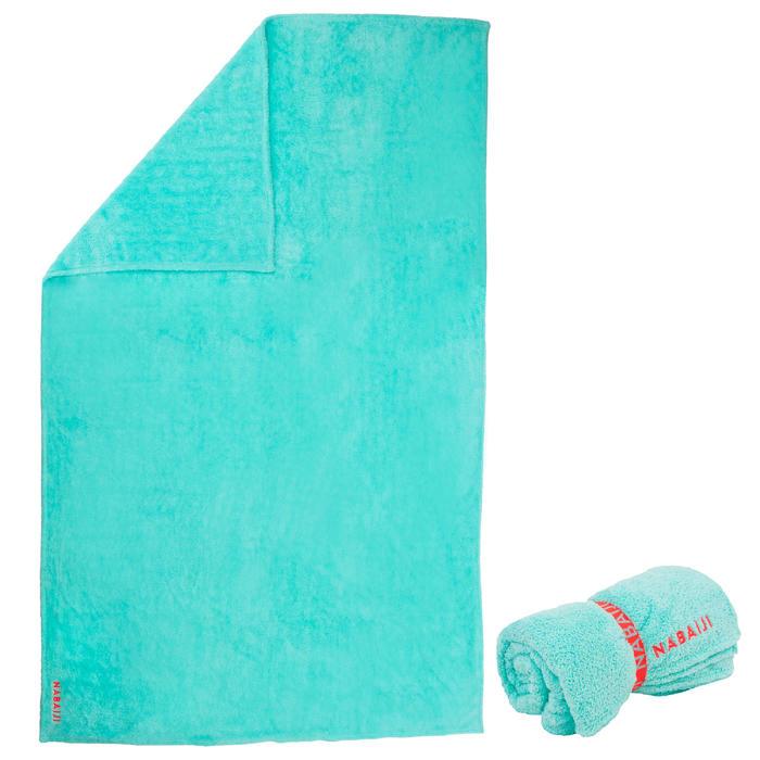 Zachte microvezel handdoek groenblauw maat XL 110 x 175 cm