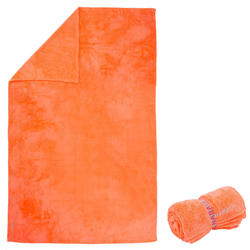 Serviette de bain microfibre ultra douce orange taille XL 110 x 175 cm
