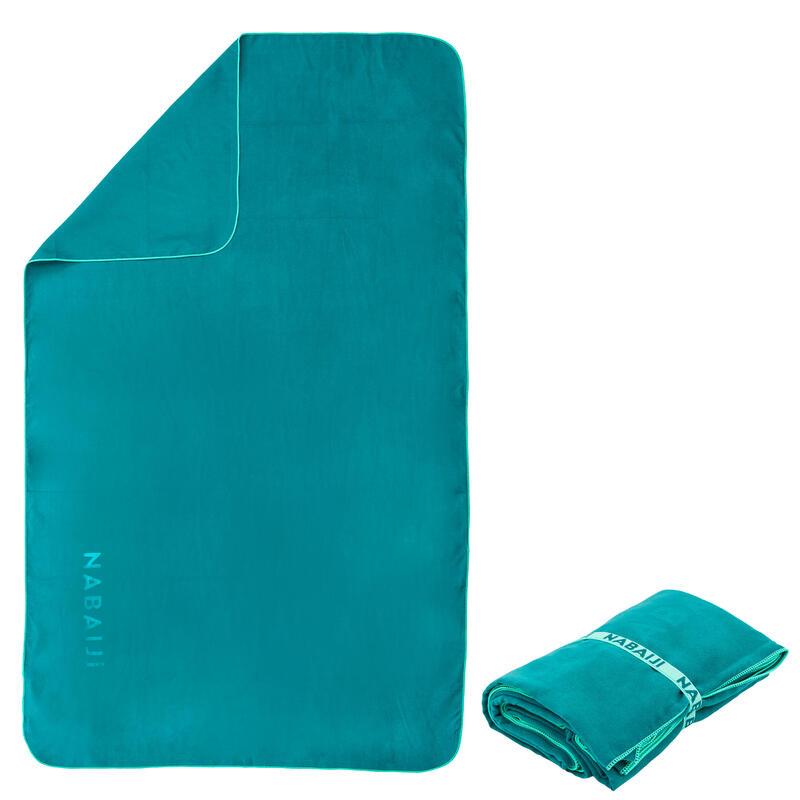 Toalla Verde Microfibra Compacta Talla L 80 x 130Cm