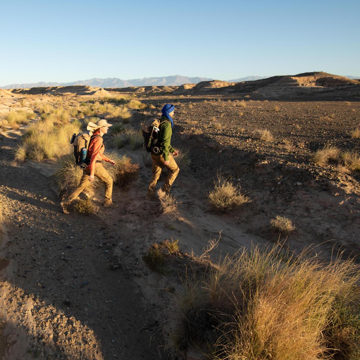 Trek dans le désert de l'oued au Sahara Maroc