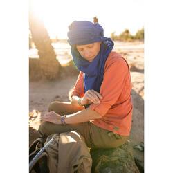 Damesblouse met lange mouwen voor woestijntrekking Desert 500 koraal