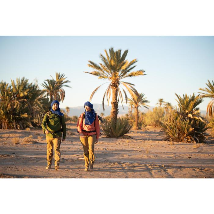 Chemise manches longues de Trekking désert DESERT 500 femme corail
