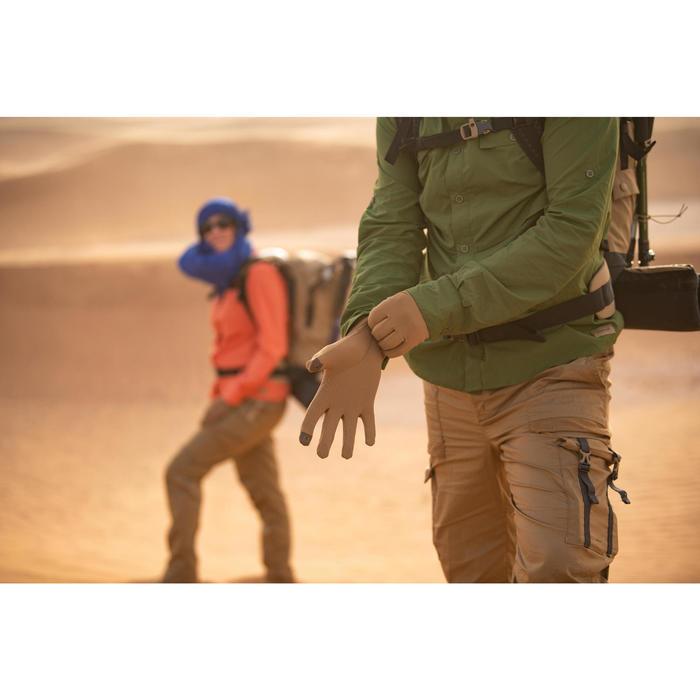 Gants anti-UV de Trekking désert DESERT 500 MARRON