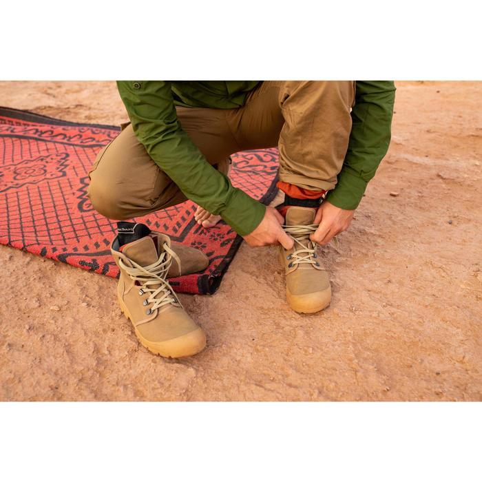 Wandelschoenen uniseks Desert 500 bruin