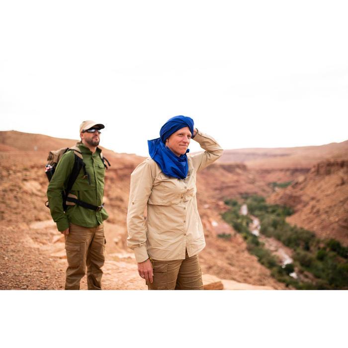 Blouse met lange mouwen voor woestijntrekking dames Desert 500 uv-werend beige
