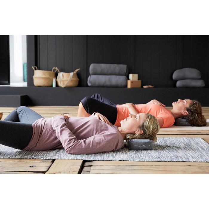 女款舒緩瑜珈有機棉七分褲 - 黑色/灰色