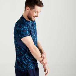 Men's Occasional Fitness T-Shirt - Turquoise Blue Camo