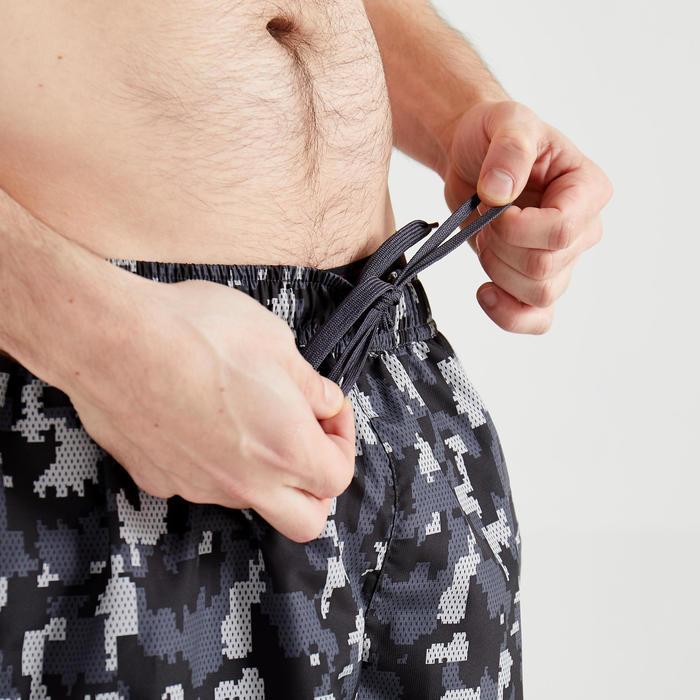 Cardiofitness short voor heren FTS 120 grijs camo