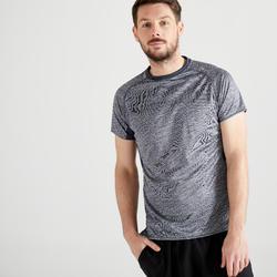 T-shirt voor cardiofitness heren FTS 120 gemêleerd grijs