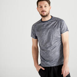 Tee shirt cardio fitness training homme FTS 120 gris chiné