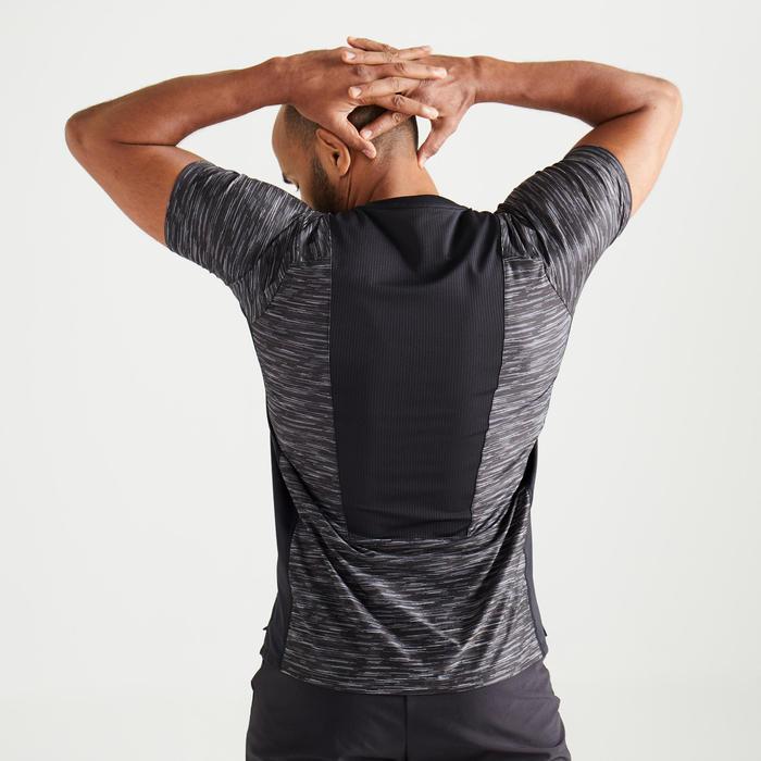 T-shirt cardio fitness training FTS 500 homme noir chiné