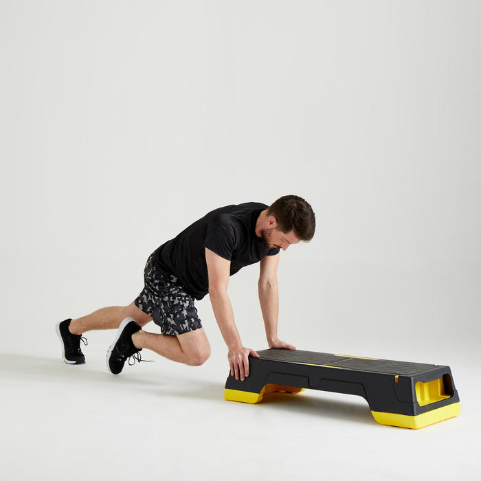 Short cardio fitness homme FST 120 GRIS CAMO
