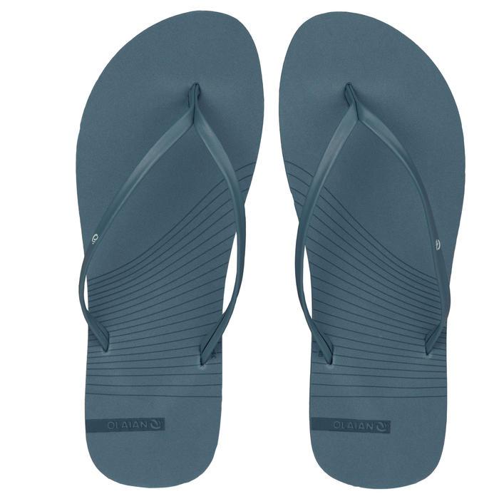 女款夾腳拖鞋150-藍灰色