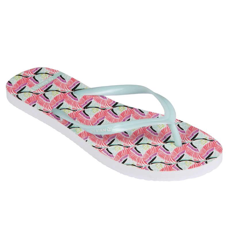 Női papucs Strand, szörf, sárkány - Női strandpapucs 120 Hazu  OLAIAN - Bikini, boardshort, papucs