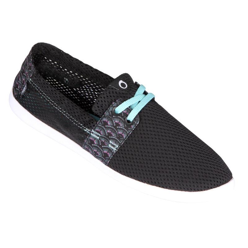 Zapatillas Playa Surf Mujer Olaian Tanspirable Negro