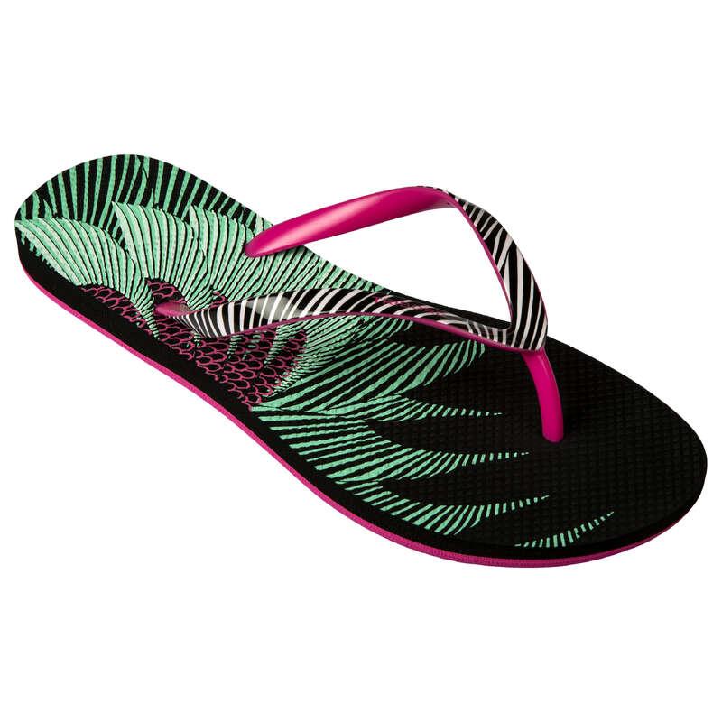 Női papucs Strand, szörf, sárkány - Női pántos papucs 500 Ata  OLAIAN - Bikini, boardshort, papucs