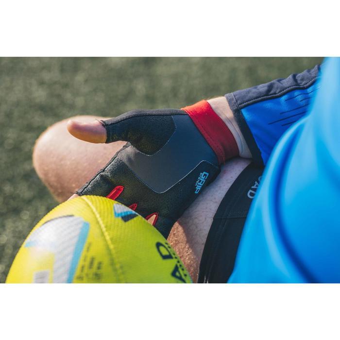 Guantes Rugby Kipsta R500 negro y rojo