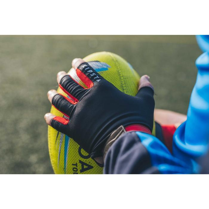 Mitaines rugby R500 noir rouge