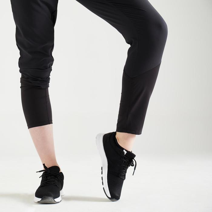Fitness broek 100 voor dames, zwart