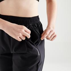 女款有氧健身訓練長褲100-黑色